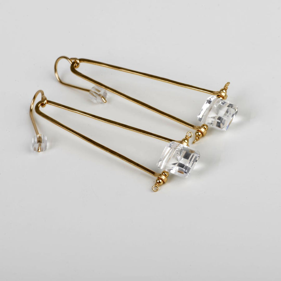ENCLAVE & CO CRYSTAL QUARTZ DROP EARRINGS