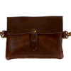 PRETTY SIMPLE LEATHER FESTIVAL BAG IN BROWN
