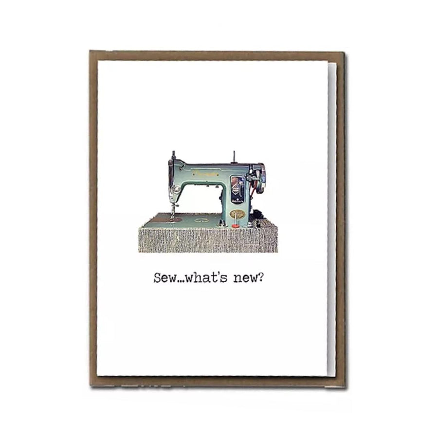 "FLY PAPER PRODUCTS ""SEW, WHAT'S NEW?"" CARD"