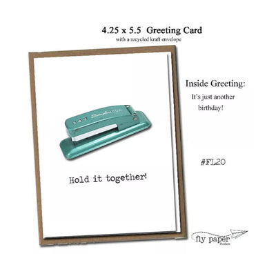 "FLY PAPER PRODUCTS ""HOLD IT TOGETHER"" CARD"