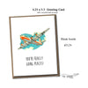 "FLY PAPER PRODUCTS ""YOU'RE REALLY GOING PLACES!"" CARD"