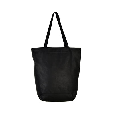 POSITIVE ELEMENTS LEATHER TOTE WITH TASSEL POUCH
