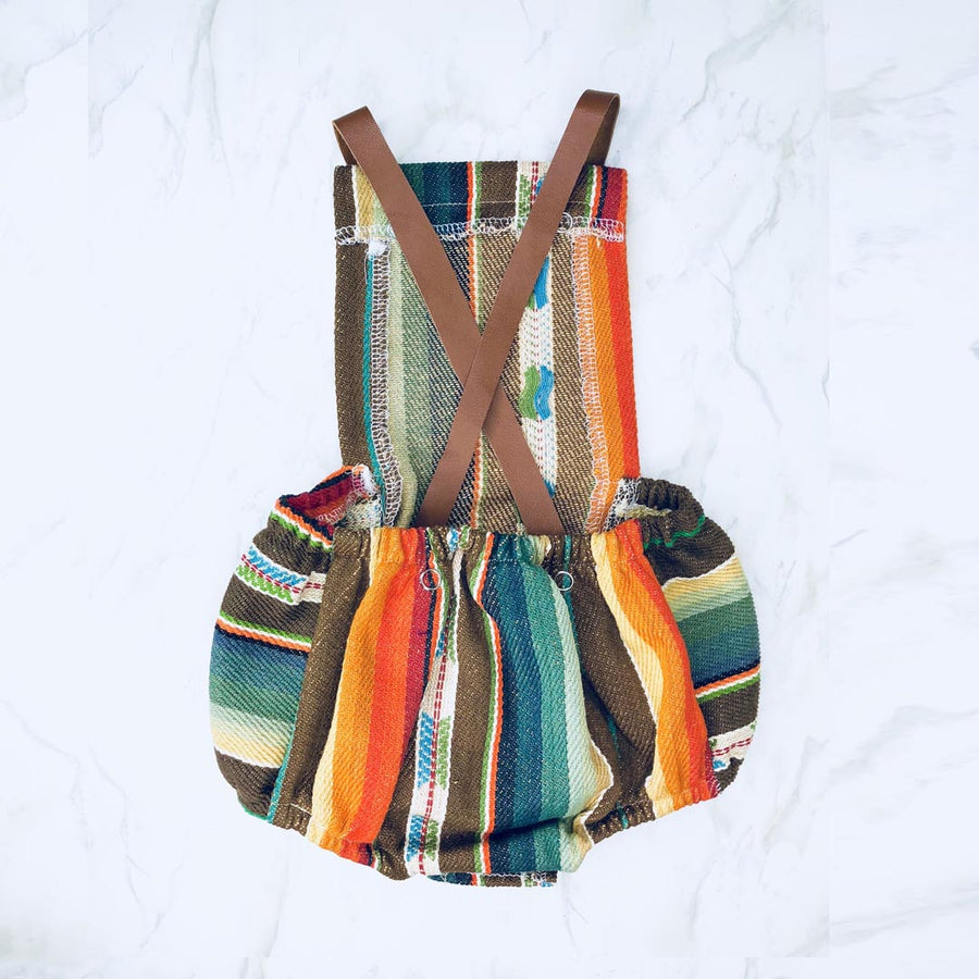 SELVEDGE DRY GOODS BROWN SERAPE BABY ROMPER