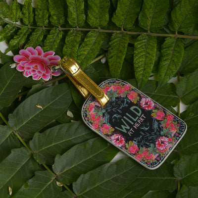 PAPAYA! LUGGAGE TAG IN WILD AT HEART