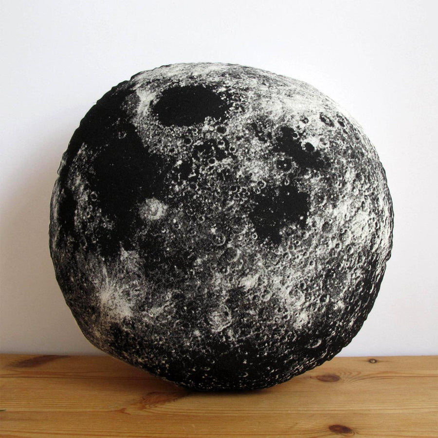 SILKSCREEN BLACK MOON PILLOW