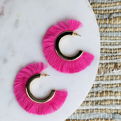 NEON BOHEMIANS ROCKSTAR MOHAWK HOOP EARRINGS
