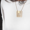 NEW YORK 24K MAP NECKLACE