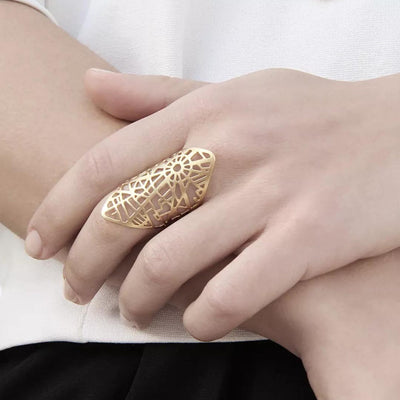 PARIS MAP 24K GOLD RING