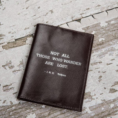 SOOTHI LEATHER PASSPORT COVER WITH QUOTE