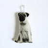 SILKSCREEN PUG ORNAMENT