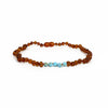 RAW AMBER AND TURQUOISE HOWLITE NECKLACE- KIDS