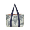 MIXT STUDIO WORLD MAP TRAVEL TOTE