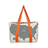 MIXT STUDIO REVERSIBLE US MAP TRAVEL TOTE
