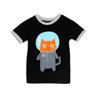 DOODLE PANTS SPACE CAT SHIRT-TODDLER
