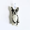 SILKSCREEN BOSTON TERRIER ORNAMENT