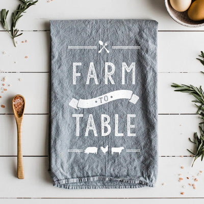 THE OYSTER'S PEARL FARM TO TABLE TEA TOWEL
