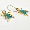WE DREAM IN COLOR VERDIGRIS BEETLE EARRINGS