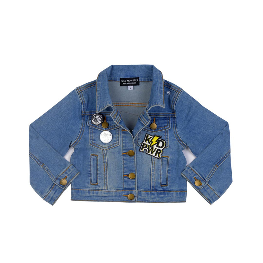 WEE MONSTER DENIM JACKET- TODDLER