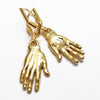 RED TRUCK DESIGNS GOLD HAND EARRINGS