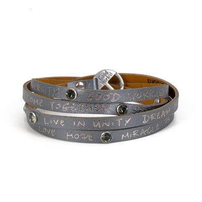 "GOOD WORK(S) ""YOU ARE"" WRAP AROUND BRACELETS"