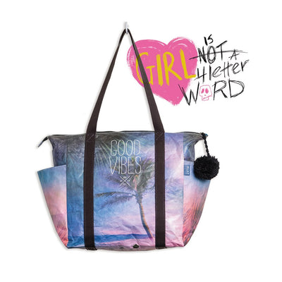 MIXT STUDIO GOOD VIBES ZIPPER TOTE