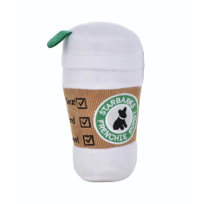 STARBARKS COFFEE CUP SQUEAK PLUSH DOG TOY