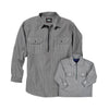 RAILROAD STRIPE ZIP SHIRT DAD & KID BUNDLE