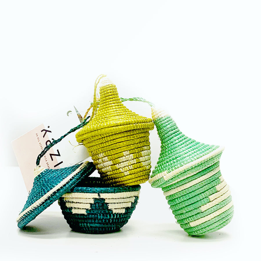 ISLAND PARADISE UBUMWE MINI-BASKETS SET OF 3