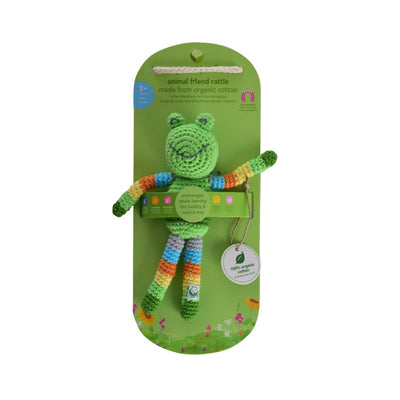 GREEN SPROUTS ORGANIC COTTON ANIMAL FRIEND RATTLE