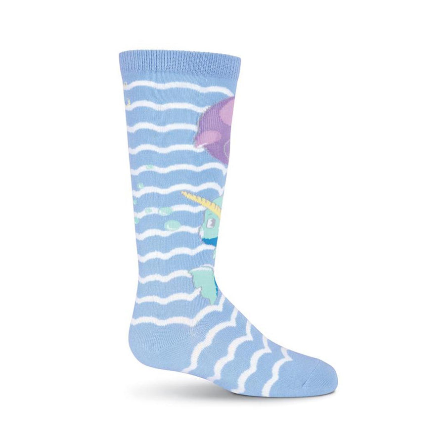 NARWHAL KNEE HIGH SOCKS-GIRL'S