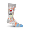 I AM HERE LOCATION PIN CREW SOCKS-MEN'S - Life Soleil