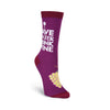 DRINK WINE CREW SOCKS-WOMEN'S - Life Soleil