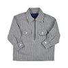 HICKORY RAILROAD STRIPE ZIP SHIRT- TODDLERS - Life Soleil