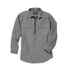HICKORY RAILROAD STRIPE ZIP SHIRT- MEN'S