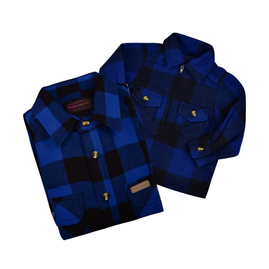 BUFFALO PLAID FLANNEL SHIRT DAD & KID BUNDLE