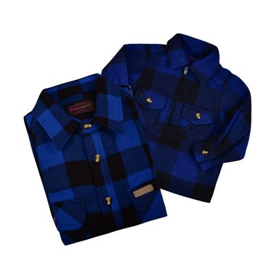 HICKORY BUFFALO PLAID ZIP SHIRT- TODDLERS