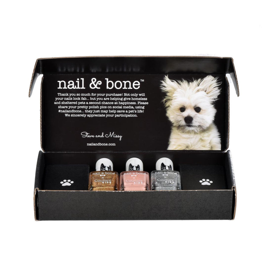 NAIL & BONE BY COUTURE KIDS 3 PIECE BOX SET