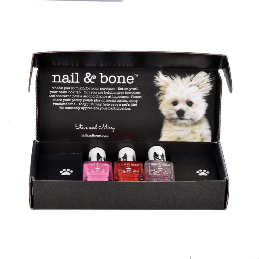 NAIL & BONE BY PARIS HILTON 3 PIECE BOX SET