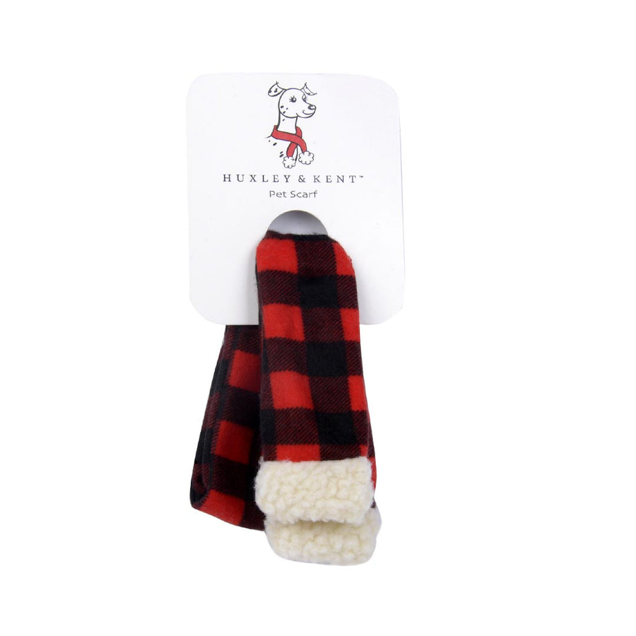 HUXLEY & KENT BUFFALO PLAID PET SCARF