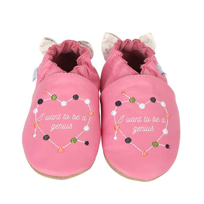 "ROBEEZ GIRLS' ""I WANT TO BE A GENIUS"" SHOES"