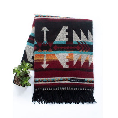 Sackcloth & Ashes Arrow Blanket in Maroon