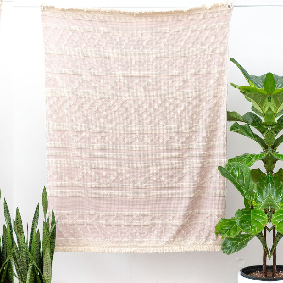 Sackcloth & Ashes Darling Blanket in Quartz