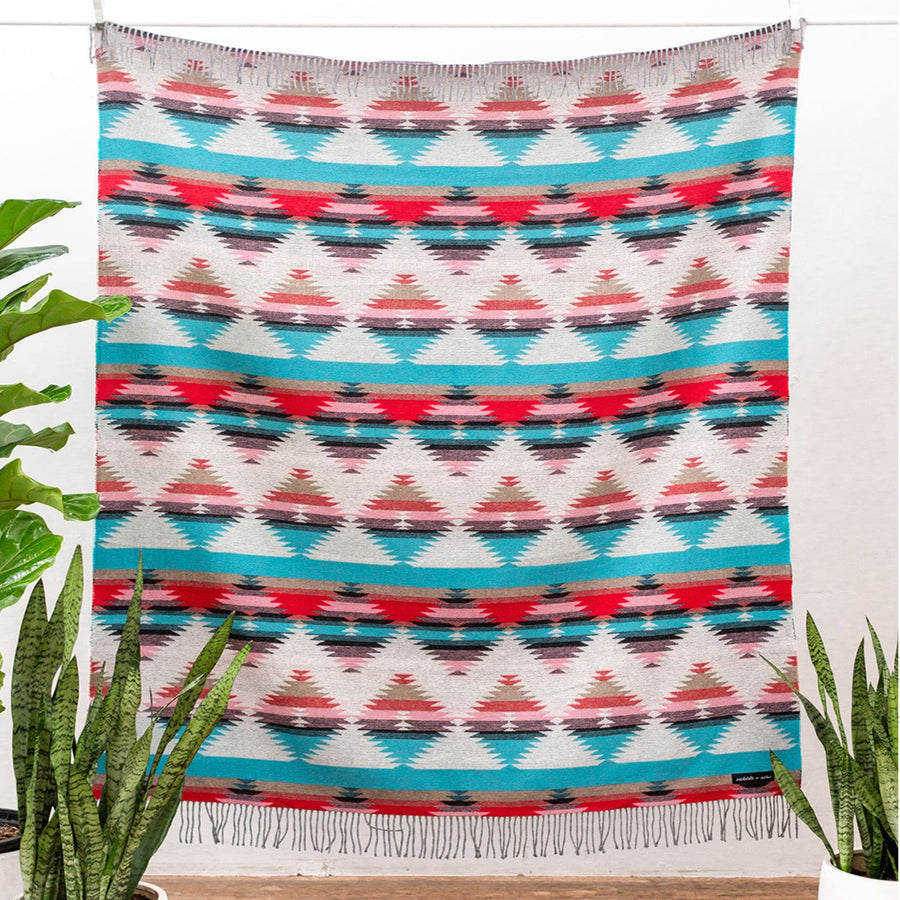 Sackcloth & Ashes Tribal Blanket in Turquoise