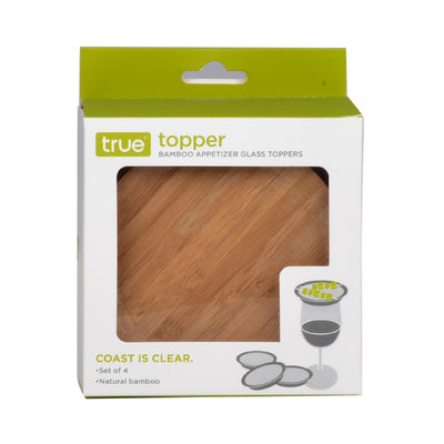 BAMBOO APPETIZER GLASS TOPPERS