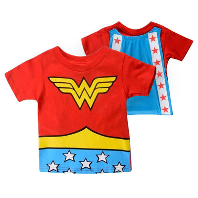 DC COMICS WONDER WOMAN TODDLER CAPED LOGO T-SHIRT