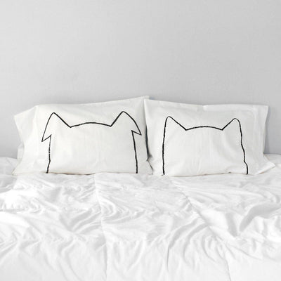 BIPETUAL CAT & DOG PILLOWCASE SET