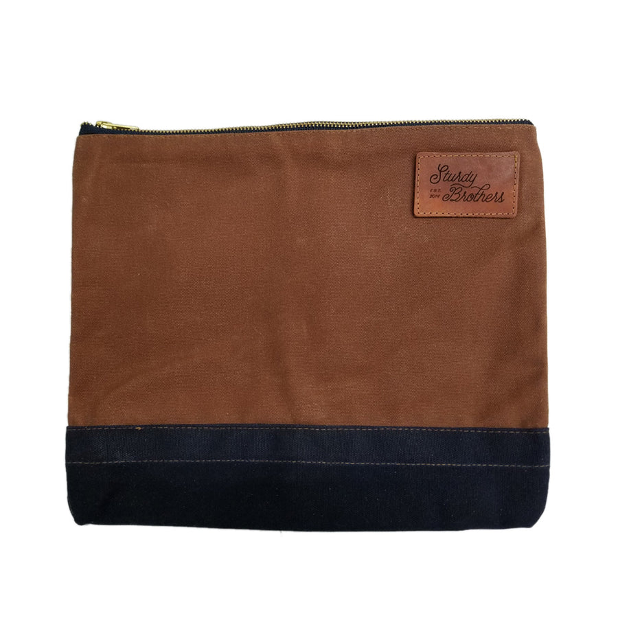 STURDY BROTHERS LARGE ZIPPER BAG