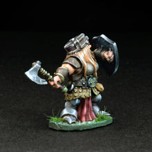 Load image into Gallery viewer, Female Dwarven Warrior w/Axe - Gertyn Naerris