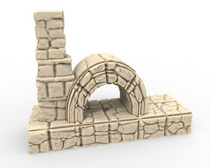 Dwarven Dungeon Accessory Piece - Blacksmith Forge w/Fireplace Insert  DDA9017