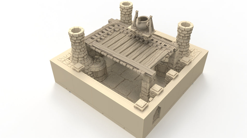 Magnetic Dwarven Forge Room, 2 Levels w/Mining Bucket